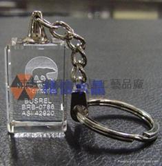 水晶发光钥匙扣