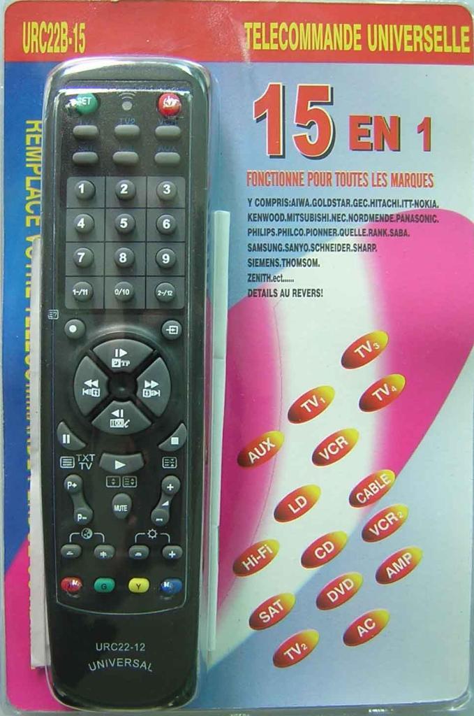 Universal Remote Control 15 In 1 Urc22b 15 Jinning