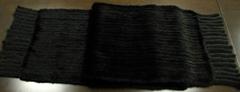 mink knitted scarf 水貂编织围巾