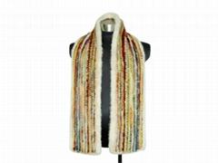 mink knitted scarf水貂編織圍巾