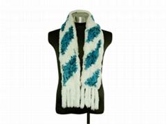 rex rabbit scarf  獺兔編織圍巾