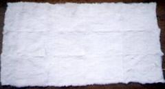 rabbit plate 兔皮褥子