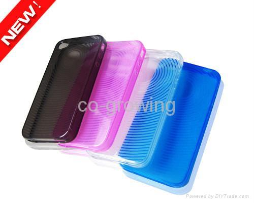 TPU case Gel plastic case for iphone 4(iphone 4G) 4S 1