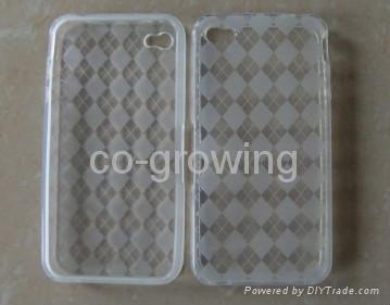 TPU case Gel plastic case for iphone 4(iphone 4G) 4S 2