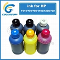 Bulk refill ink pigment and dye for HP T610/T790/T1100-72#