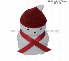 SNOWMAN SHAPE BOX FOR RING