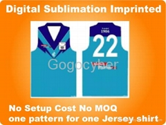 Sublimation Printing For Sport Shirt