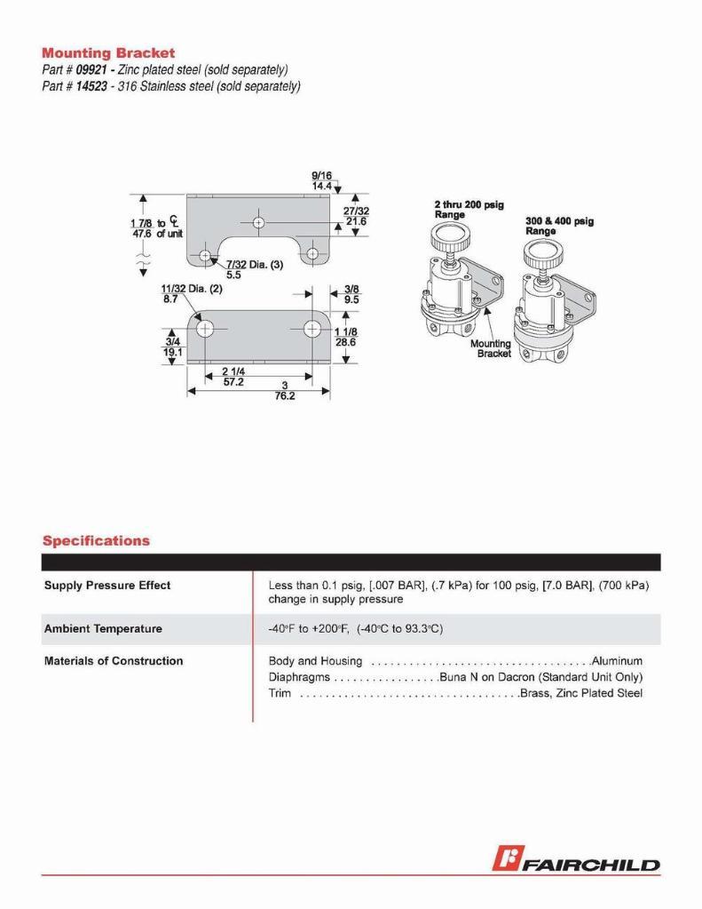 FAIRCHILD  10292 精密调压阀 3
