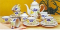 15 PCS STONEWARE TEA SET