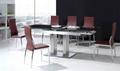 玻璃餐桌,高檔餐桌,不鏽鋼餐桌,拉伸玻璃餐桌