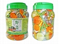 MIXED VEGETABLE CHIPS 500G PLASTIC POT 1