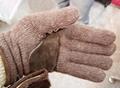 shetland wool gloves