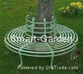 Wrought Iron Circular Tree Bench - China - Trading Company - Product