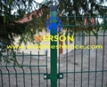 werson PVC coated weld mesh panel fence with bending-RAL 6005