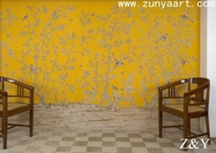 handmade wallpaper mural 10