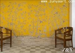 handmade wallpaper mural 10