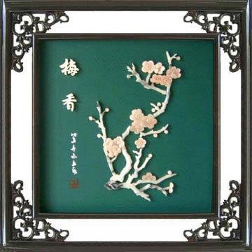 工藝品*B213牡丹-玉石裝飾畫 2