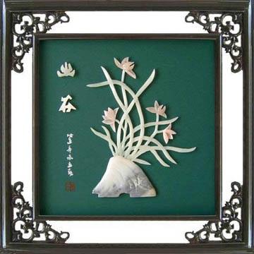 工藝品*B213牡丹-玉石裝飾畫 3