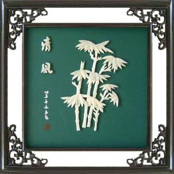 工藝品*B213牡丹-玉石裝飾畫 4