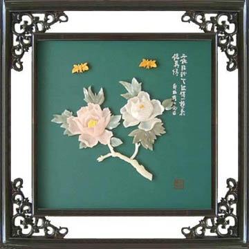 B210-福壽雙全*玉雕工藝畫* 3
