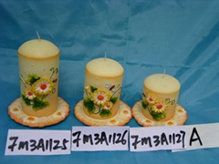 art candle with ceramic holder