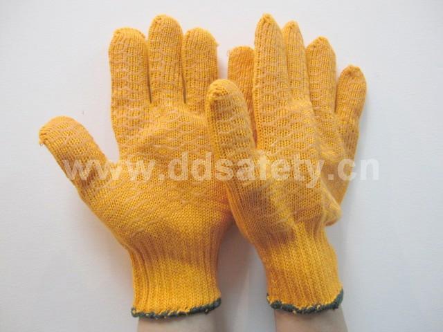 橙色棉紗手套 DKP202 1