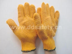 knitted with pvc glove DKP202