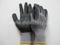 nylon with PU glove with mini dots DPU413