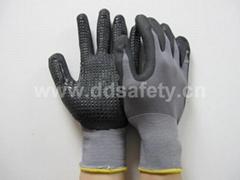黑色丁腈点珠手套 DPU413