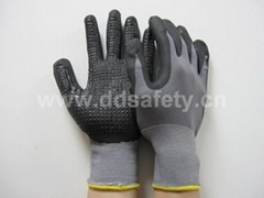 nylon with PU glove with mini dots DPU413