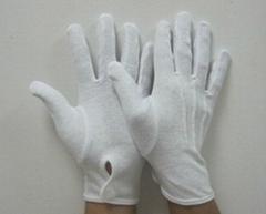 白色棉布手套帶紐扣 DCH114