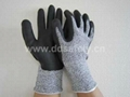 cut resistant glove with foam finish