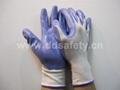 紫色丁腈白纱手套 DNN337