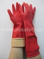 red latex household gloves DHL442