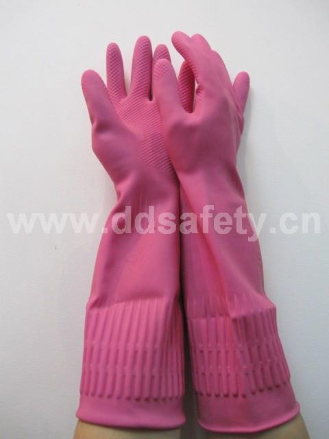 粉红色乳胶网格手套 DHL440 1