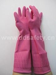 粉红色乳胶网格手套 DHL440