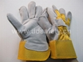 Working gloves cow split leather glove DLC213