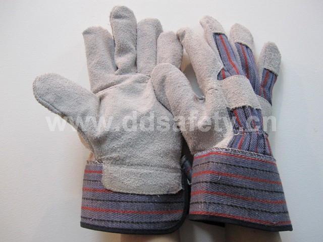 cow split leather glove DLC215  1