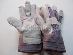 cow split leather glove DLC215