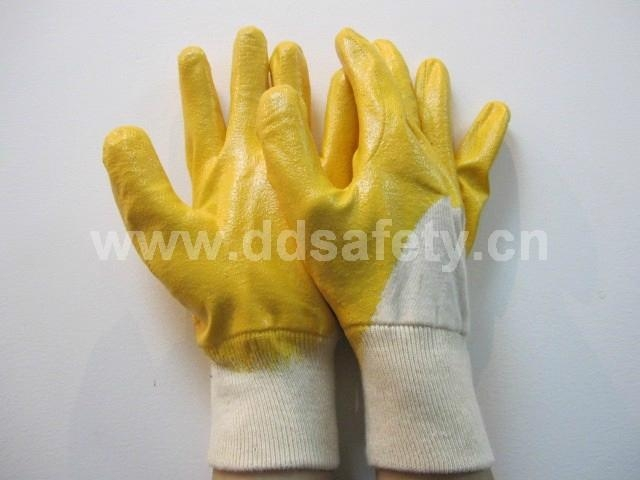 yellow nitrile coated glove DCN303 1