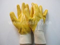 yellow nitrile coated glove DCN303
