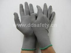 灰色棉纱防静电手套 DCH128