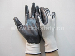 black nylon with nitrile gloves DNN336 with CE