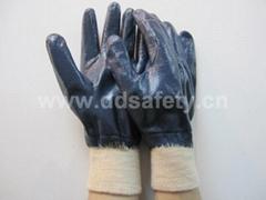 藍色丁腈全浸棉布手套 DCN406
