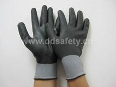 灰色水性PU全浸手套 DPU420