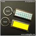 Solar Powered Keychain Water-proof Animation flashing  P046