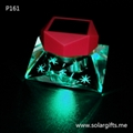 Car decoration crystal perfume bottle air fresher with solar led lights
