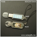 solar powered flash usb drive P058