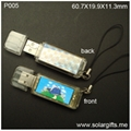 logo custom Solar USB Flash Drive