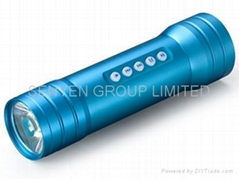 S2Multi Function Music Electric Torch Sound